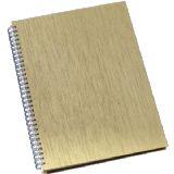 Caderno de Negócios Pequeno Permanente Capa Metalizada Lisa