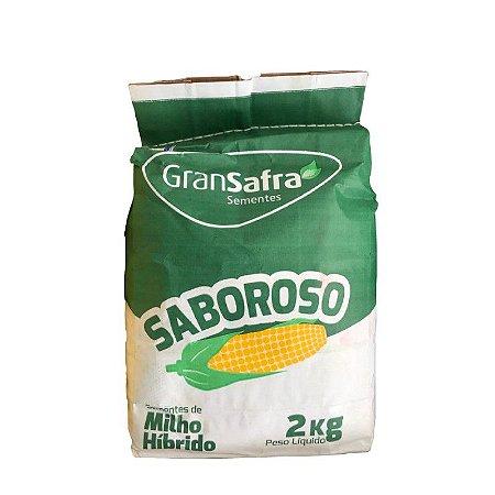 Sementes de Milho Híbrido BRS 3046 Saboroso (Milho Verde) Gransafra