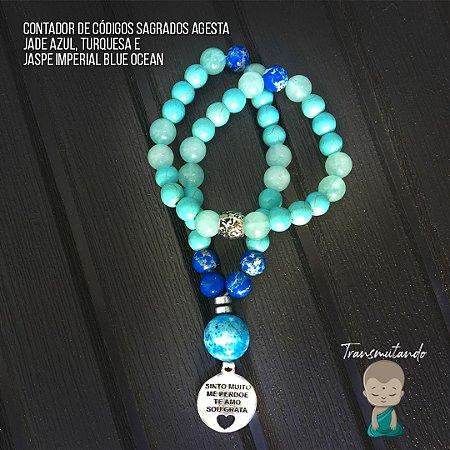 Contador Agesta Jade Azul + Turquesa + Jaspe