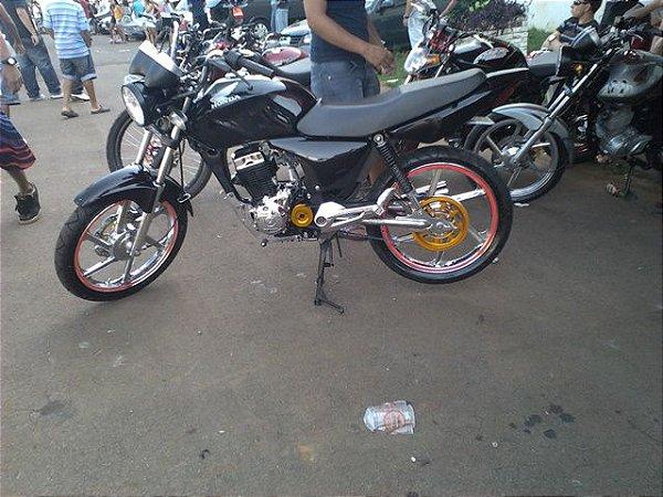 KIT Relação Correia Dentada - Honda CG150 TDS / CG 150 TITAN/FAN 2009 à 2021(material, aço)