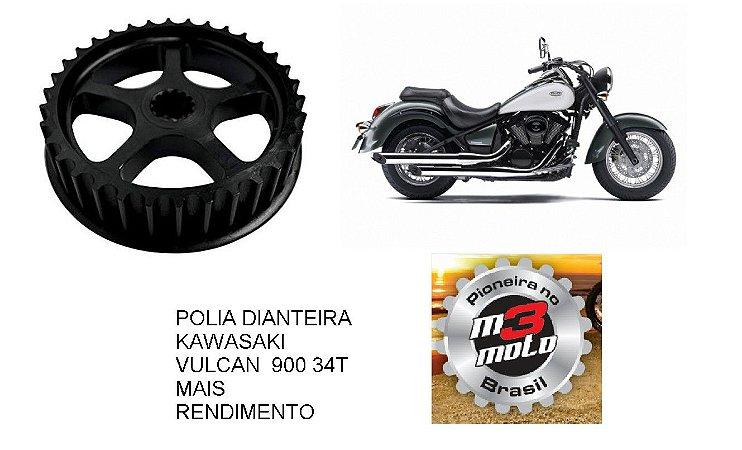 Polia(Pinhão) Dianteiro Moto - Kawazaki Vulcan 900 Custom 34T  + rendimento
