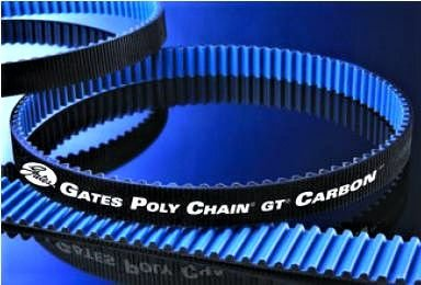 Correia Gates Polychain Carbon 135 dentes  largura 1.1/8  - Harley Softail Deuce - Opcional BELT 40307-00B
