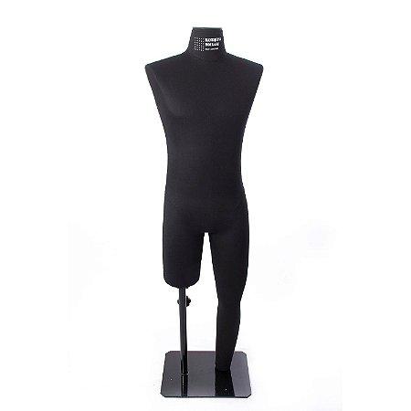 Manequim Masculino Preto - Modelo Perna Inteira