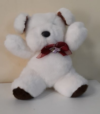 Cachorrinho Branco 28cm - Cod 67