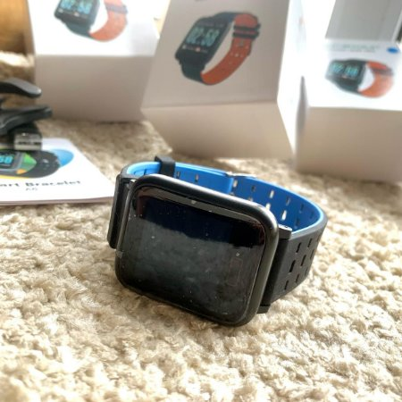 SmartWatch A6 - Cinza e azul