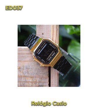 Casio vintage A168 - Preto e Dourado