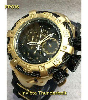 Invicta Thunderbolt 100%  Funcional - Dourado e Preto