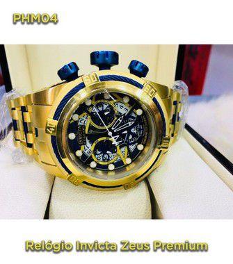 Invicta Zeus Skeleton - Dourado e Azul