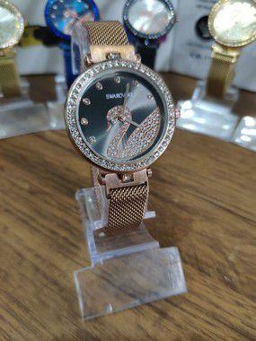 Relógio feminino Swarovski - Rose e Preto