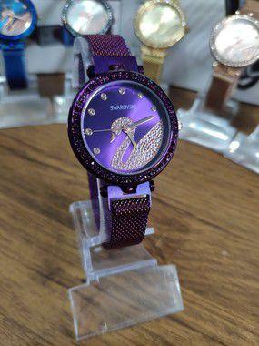 Relógio feminino Swarovski - Roxo