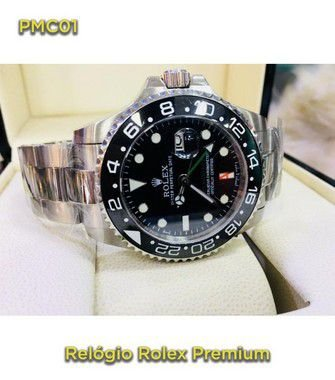 Rolex GMT - Prata e Preto