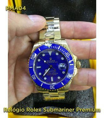 Rolex Submariner - Dourado e Azul