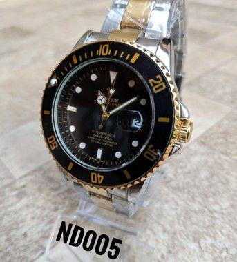 Rolex Submariner - Dourado, Preto e Prata