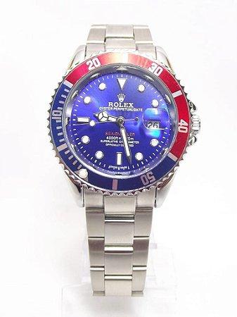 Rolex Submariner - Prata e Azul