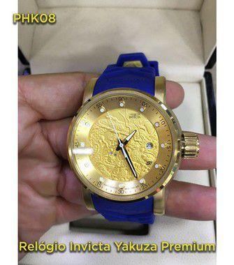 yakuza Automatico Linha Luxo - Azul e Dourado