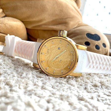 Yakuza Bateria - Branco e Dourado