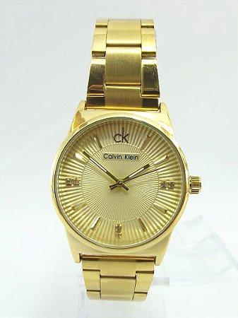 Calvin Klein Fundo Cravado Dourado
