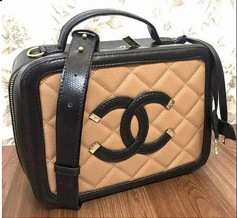 Bolsa Chanel Nº 2 Caramelo e Preto