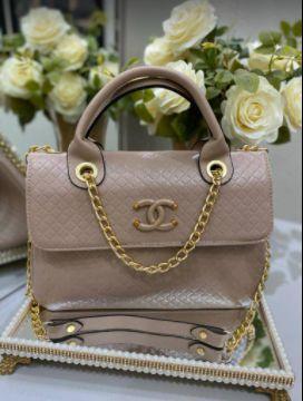 Bolsa Chanel N° 5 Bege