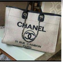 Bolsa Chanel N° 9 Cinza Claro