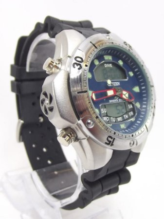 Citizen Dive Prata e Azul