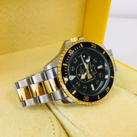 Rolex Submariner Caveira - Prata, Dourado e Preto
