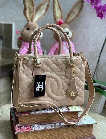 Bolsa Chanel Shopper - Bege