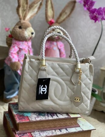 Bolsa Chanel Shopper - Branca
