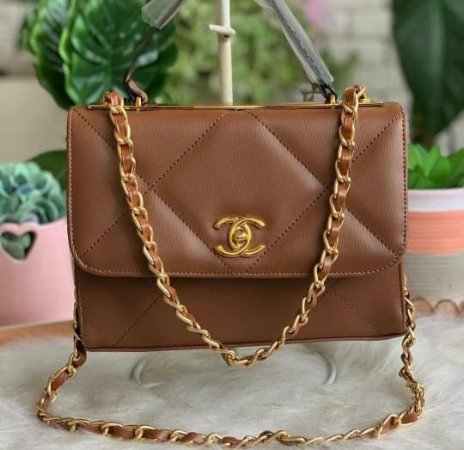 Bolsa Chanel N°19 - Marrom