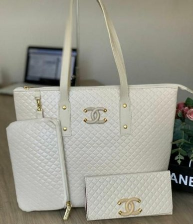 Bolsa Chanel Off White