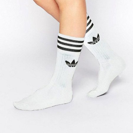 0a03982ca Meia Adidas Solid Crew Cano Alto - Sportlet Sneakers