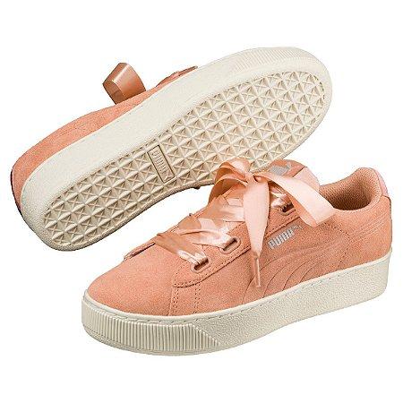 0ed8e7415008 TÊNIS PUMA VIKKY PLATFORM RIBBON FEMININO - CORAL - Sportlet Sneakers