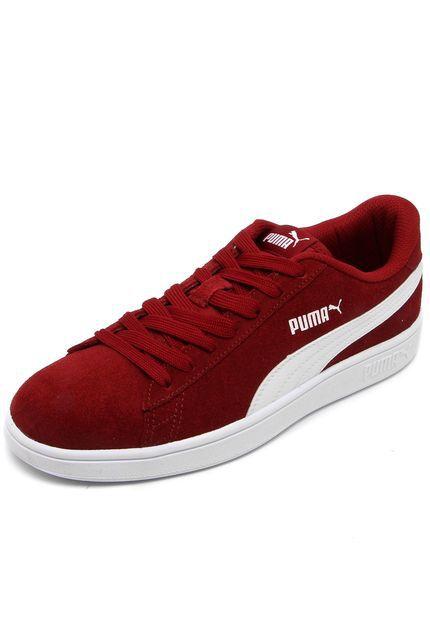 584470eafee Tenis Puma Smash v2 BDP vinho Camurça - Sportlet Sneakers
