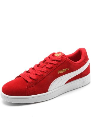 Tenis Puma Smash V2 BDP Vermelho