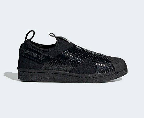 42be94ecb Tenis Adidas Superstar Slip On Black Black - Sportlet Sneakers