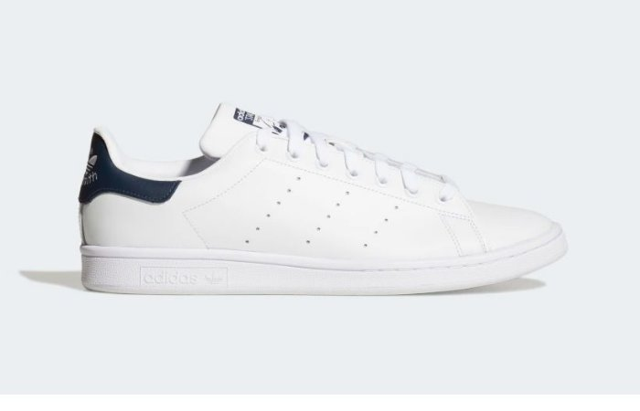 hígado imagina otoño  Tenis Adidas Stan Smith Branco com Azul - Lace Sneakers