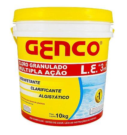 Cloro Granulado Genco L.E. Múltipla Ação 3em1 - 10Kg