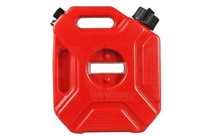 Tanque Reservatório Galão de combustível Gasolina 5L com suporte