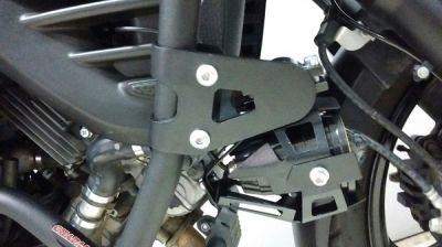 Suporte universal para faroletes em protetores de motor e carenagens