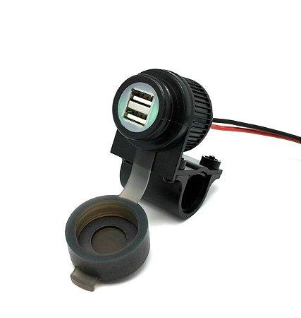 Adaptador de Tomada duplo USB - Direto na Bateria