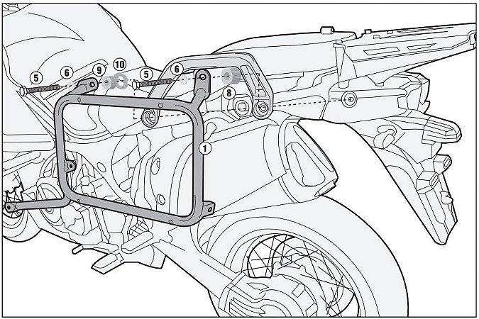 Suporte Lateral Givi Outback para Yamaha Super Tenere 1200