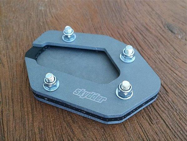 Ampliação da base do pezinho - Big-Foot em Aluminio - Tiger 800
