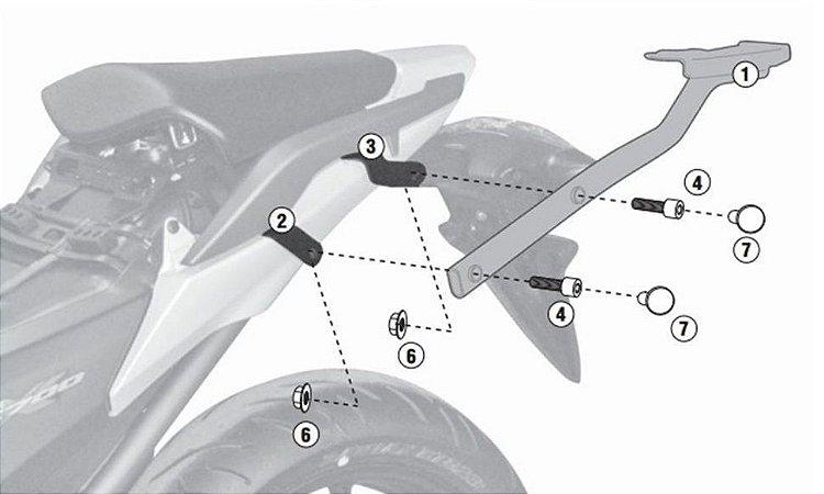 Rack Givi - Suporte - Bagageiro traseiro para Honda NC 700 / NC 750 X