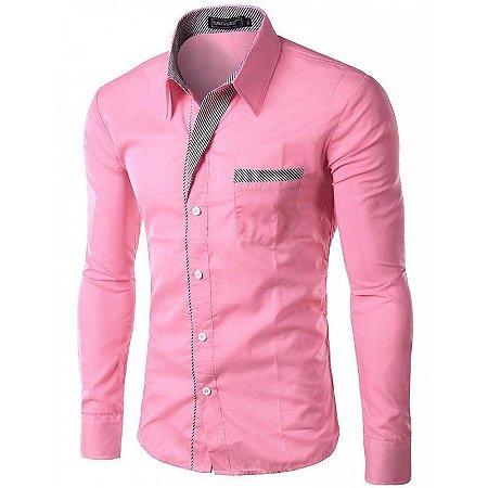 Camisa Social Masculina Slim fit cuff