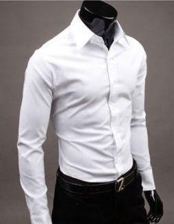 Camisa Social Masculina New Mens Slim Fit