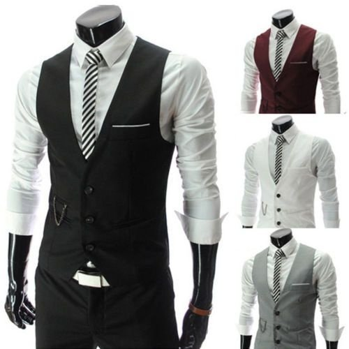 Colete Fashion Men Slim Formal