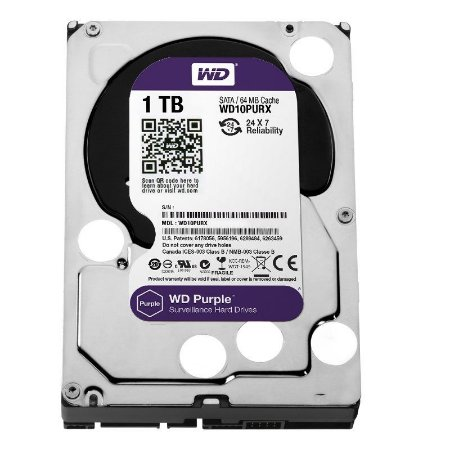 Hd Interno 1tb 1000gb Western Digital Purple Sataiii 64mb Wd10purx