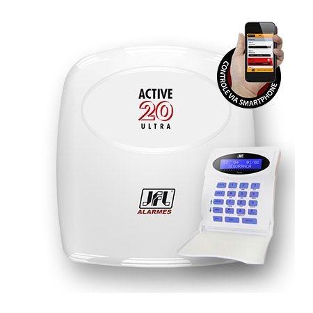 Central de Alarme Monitorada com até 22 Zonas Active 20 Ultra JFL