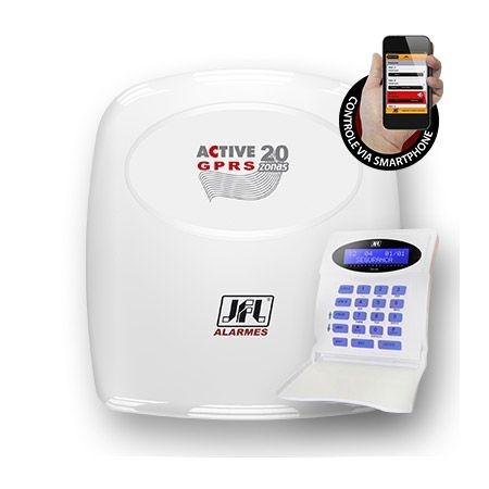 Central de Alarme Monitorada com até 22 Zonas Active 20 GPRS JFL