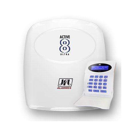 Central de Alarme Monitorada com até 12 Zonas Active 8 Ultra JFL